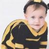 Arı Modelli Bebek Elbisesi