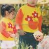 Kırmızı Çiçekli Örgü Çocuk Kazak Modeli Yapımı