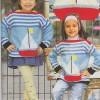 Çizgili Gemi Desenli Çocuk Bluz Modeli