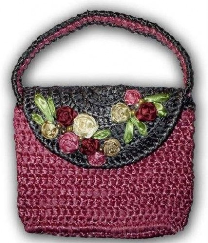 cicek desenli çanta