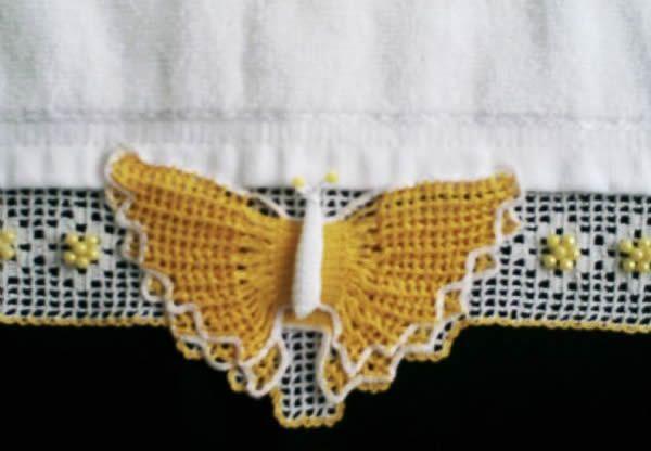 Kelebek Havlu Kenarı