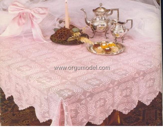 altın başak dantel masa örtüleri