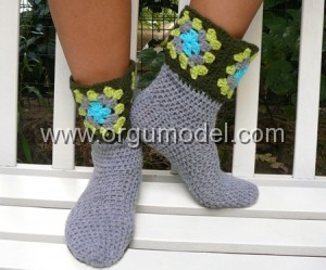 çorap şeklinde patik modeli