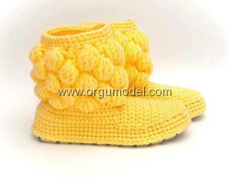 Boğazlı Sarı Patik Modeli