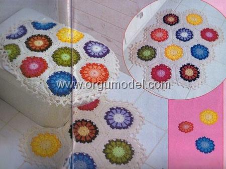 Renkli-Motifli-Banyo-Takımı