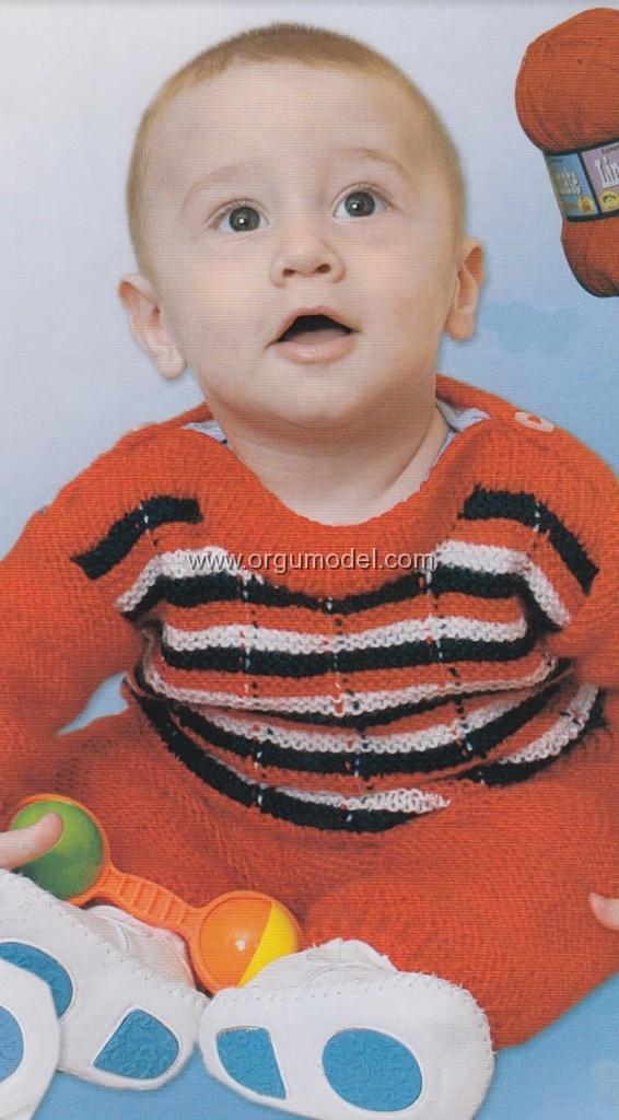 çizgili bebek kazağı