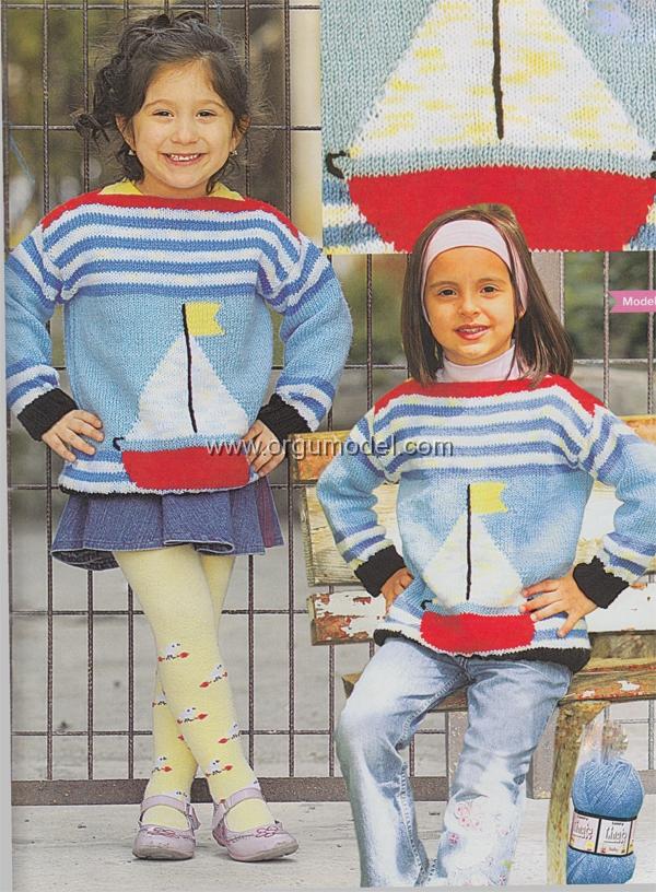 mavi-cizgili-gemi-desenli-cocuk-bluz-modeli