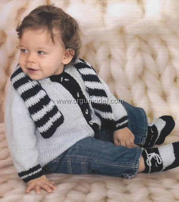 Bebek Hırka-Atkı-Bere Takımı Yapılışı