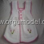Örgü Kız Bebek Yeleği