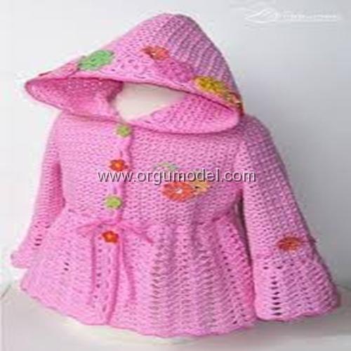 Şapkalı Çocuk Hırkası
