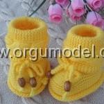 sarı ayakkabı tarzı kız çocuk patik