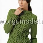yeşil bayan kazak