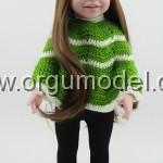 yeşil kız çocuk kazak